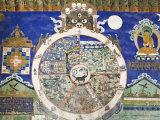 Wheel of Life Wall Art  Tikse Gompa  Tikse  Ladakh  Indian Himalaya  India