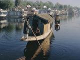 Houseboats on the Lake at Srinagar  Kashmir  Jammu and Kashmir State  India