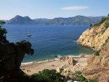 Beach Below Piana  Corsica  France  Mediterranean