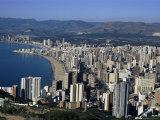 High Rise Apartments Lining Beach Zone  Benidorm  Costa Blanca  Valencia Region  Spain