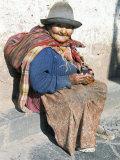 Local Resident  Cuzco  Peru  South America