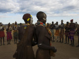 Karo People with Body Painting  Dancing  Lower Omo Valley