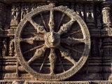 Carved Chariot Wheel  Sun Temple Dedicated to the Hindu Sun God Surya  Konarak  Orissa State