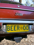Car Registration Plate Beer  South Australia  Australia