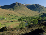 Glen Lyon  River Lyon and Meggernie Castle  Tayside  Scotland  United Kingdom
