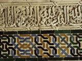 Close-Up of Decoration  Alhambra  Granada  Andalucia  Spain