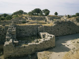 Ancient Ruins  Troy  Unesco World Heritage Site  Anatolia  Turkey  Eurasia