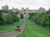 The Long Walk and Windsor Castle  Windsor  Berkshire  England  United Kingdom