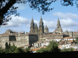 Cathedral from the Park  Santiago De Compostela  Unesco World Heritage Site  Galicia  Spain
