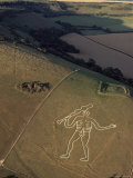 Aerial View of the Cerne Abbas Giant  Dorset  England  United Kingdom