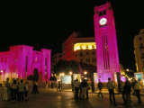 Place d'Etoile at Night  Beirut  Lebanon  Middle East