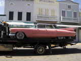 Pink Cadillac Being Transported  Duval Street  Key West  Florida  USA
