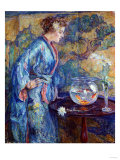 Girl in Blue Kimono  1911