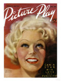 Jean Harlow (1911-1937) on the Cover of the April 1936 Issue of 'Picture Play' Magazine  1936