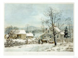 New England Winter Scene  1861  Currier and Ives  Publishers