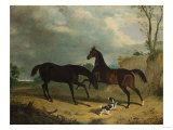 Hunters and a Spaniel in a Wooded Landscape  1835
