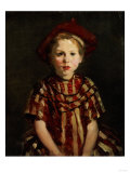 Little Girl in Red Stripes  1910