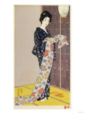 Young Woman in a Summer Kimono