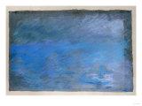 Waterloo Bridge, Brouillard, Pastel on Blue Paper 1901 Giclée par Edgar Degas
