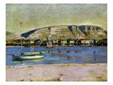 Geneva Harbour and the Saleve, 1878 Giclée par Edgar Degas