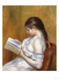 Reading, Painted in 1888 Giclée par Edgar Degas