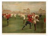A Rare Print of England V Wales January 5th 1895 at Swansea