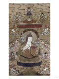 A Sino Tibetan Silk Embroidered Silk ThangKa Depicting TsongKhaPa  Circa 1800