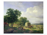 A Wooded Landscape with Haymakers  1822