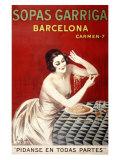 Sopas Garriga, Barcelona Giclée par Leonetto Cappiello