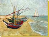 Barques sur la plage, 1888 Tableau sur toile par Vincent Van Gogh