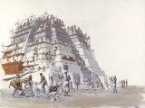 Mayan Laborers Fit and Mortar a Temple's Limestone Blocks