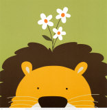 Lion, Peek-a-Boo IX Reproduction d'art par Yuko Lau