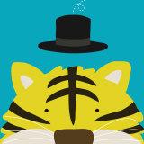 Tigre, Peek-a-Boo XI Reproduction d'art par Yuko Lau