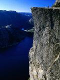 Preikestolen 600M Above Lysefjord  Lysefjord  Rogaland  Norway