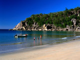 Father and Daughters Enjoying Waters of Radical Bay  Magnetic Island  Australia