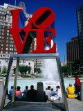 Sculpture in Love Park  Philadelphia  Pennsylvania