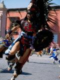 Costumed Dancer  Aztec Festival  Cristo de la Conquista  San Miguel de Allende  Guanajuato  Mexico