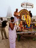 Hindu Chariot at Chamundi Hill  Mysore  Karnataka  India