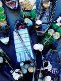 Boats at Floating Market  Vietnam