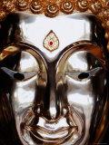 Gilded Buddha Face  Bangkok  Thailand