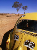 Volkswagon Beetle in Outback  Silverton  New South Wales  Australia