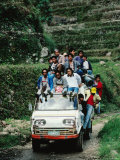 Small Truck on a Country Road with Passengers Aplenty  Banaue  Cagayan Valley  Philippines