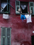 Laundry and Garlic Drying from Upstairs Window  Nice  Provence-Alpes-Cote d'Azur  France