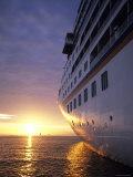 Cruise Ship at Sunset  Reykjavik  Reykjavik  Iceland