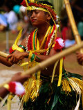 Young Female Stick Dancer  Yap Day Festival