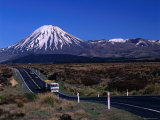 Rangipo Desert with Snow Capped Mount Ngauruhoe in Background  Manawatu-Wanganui  New Zealand