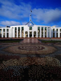 Parliament House with Mosaic in Foreground  Canberra  Australian Capital Territory  Australia