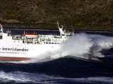 Interislander Ferry Aratere in a Heavy Swell at Mouth of Wellington Harbour  New Zealand