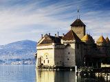 Chateau de Chillon on Lake Geneva  Chillon  Vaud  Switzerland