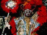 Person in Costume  Mummers Parade  Philadelphia  Pennsylvania